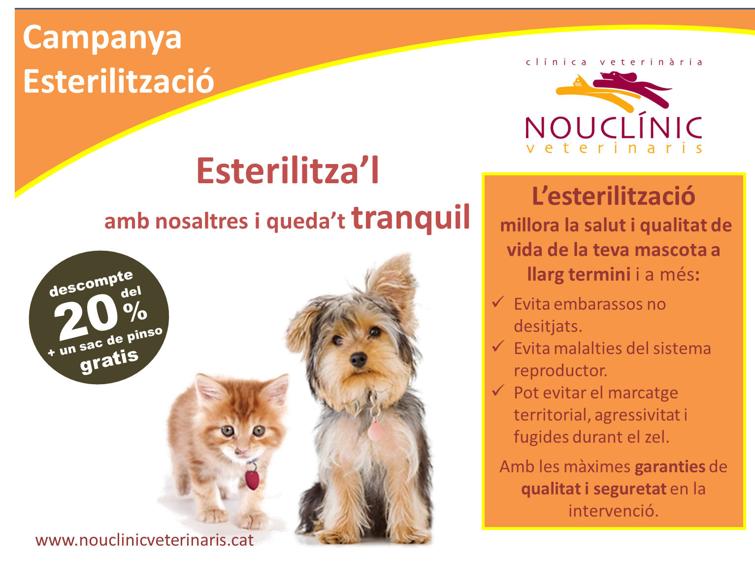Campanya plans de salut 2019 - Nouclinic Veterinaris